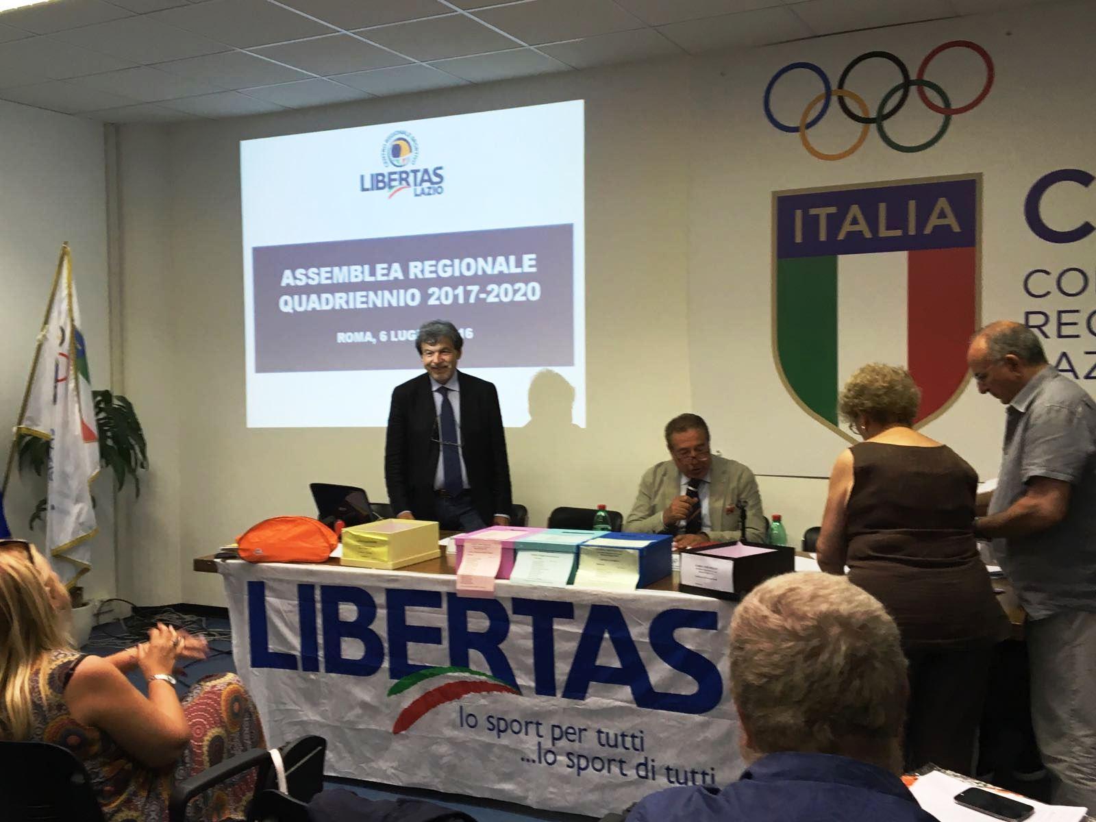 N.1 Il Presidente Del CNSL Proclama Enzo Corso Presidente  Libertas Regionale 2017 20