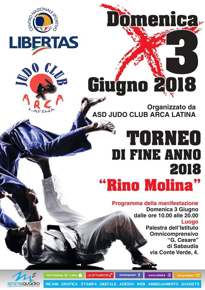 """Judo, Domenica 3 Giugno Torneo Di Fine Anno 208 """"Rino Molina"""""""