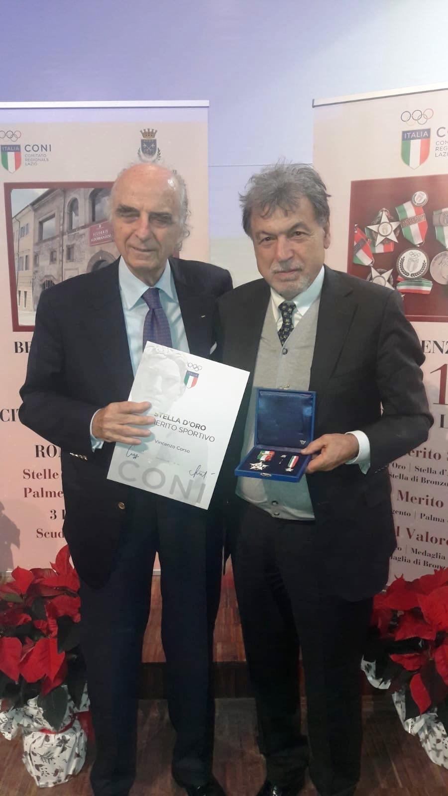 Ad Enzo Corso La Stella D'Oro, L'onorificenza Riservata Ai Dirigenti Sportivi
